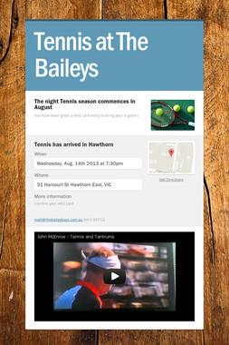 Tennis at The Baileys