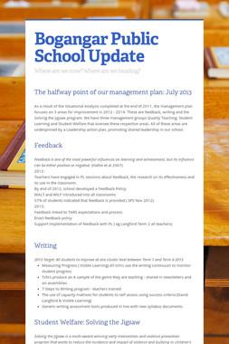 Bogangar Public School Update