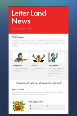 Letter Land News