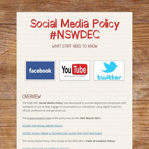 Social Media Policy #NSWDEC