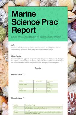 Marine Science Prac Report