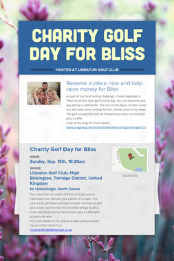 Charity Golf Day for Bliss