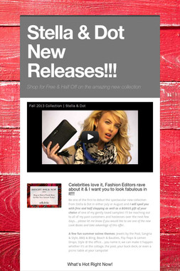 Stella & Dot New Releases!!!
