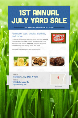 1st Annual July Yard Sale