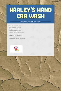 Harley's Hand Car Wash