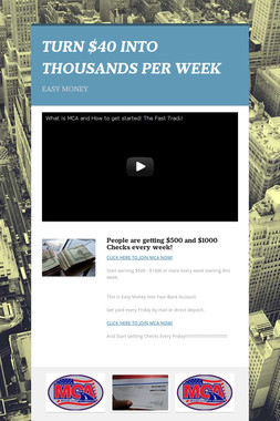 TURN $40 INTO THOUSANDS PER WEEK
