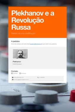 Plekhanov e a Revolução Russa
