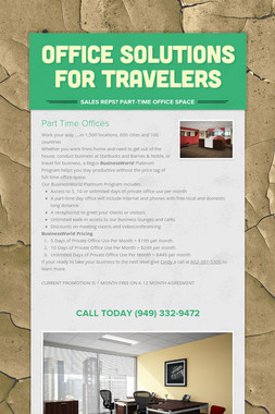 OFFICE SOLUTIONS FOR TRAVELERS