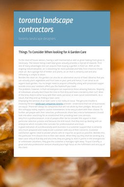 toronto landscape contractors