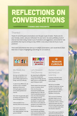 Reflections on Conversations