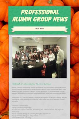 Professional Alumni Group News