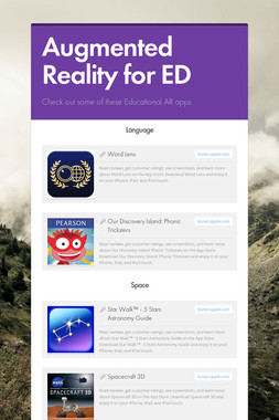 Augmented Reality for ED