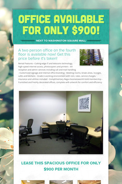 Office available for only $900!