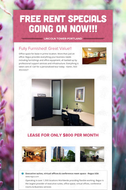 Free rent specials going on NOW!!!