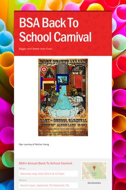 BSA Back To School Carnival