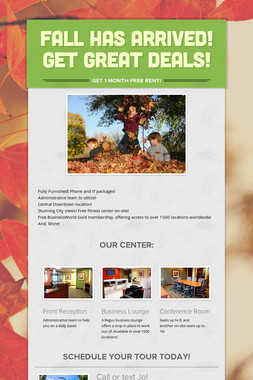 Fall has arrived! Get Great deals!