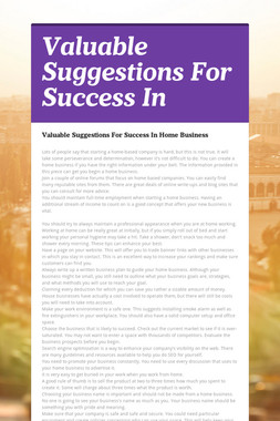 Valuable Suggestions For Success In
