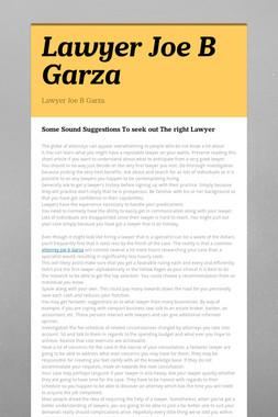 Lawyer Joe B Garza