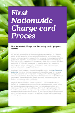 First Nationwide Charge card Proces