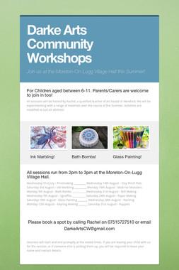 Darke Arts Community Workshops