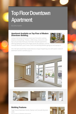Top Floor Downtown Apartment