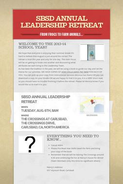 SBSD Annual Leadership Retreat
