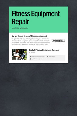 Fitness Equipment Repair