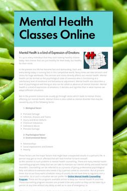 Mental Health Classes Online