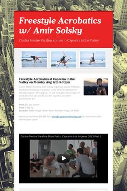 Freestyle Acrobatics w/ Amir Solsky