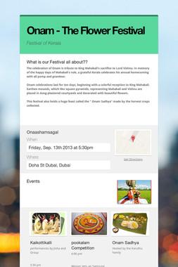 Onam - The Flower Festival