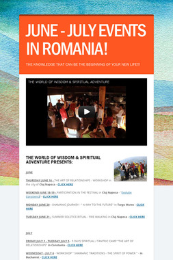 JUNE - JULY EVENTS IN ROMANIA!