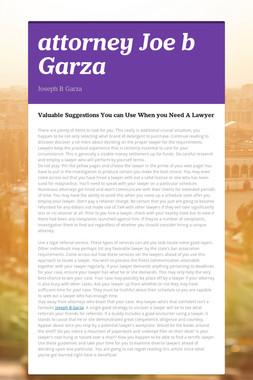 attorney Joe b Garza