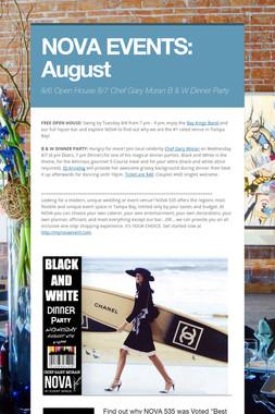 NOVA EVENTS: August