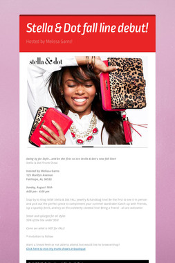 Stella & Dot fall line debut!