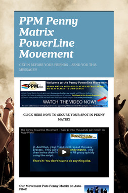 PPM Penny Matrix PowerLine Movement