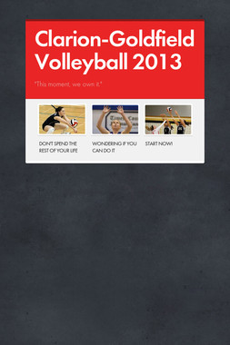 Clarion-Goldfield Volleyball 2013