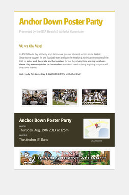 Anchor Down Poster Party