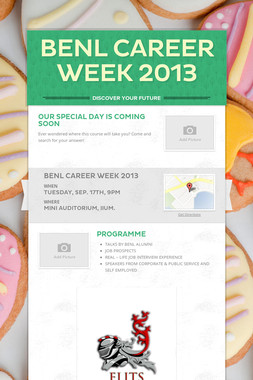 BENL CAREER WEEK 2013