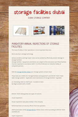 storage facilities dubai