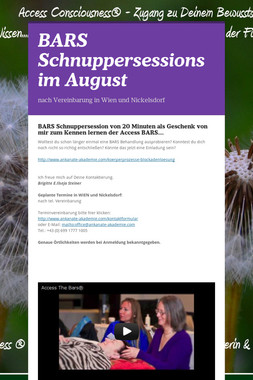BARS Schnuppersessions im August