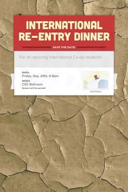 International Re-entry Dinner