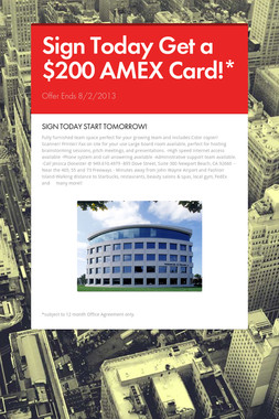 Sign Today Get a $200 AMEX Card!*
