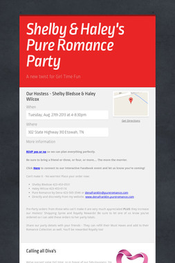 Shelby & Haley's Pure Romance Party
