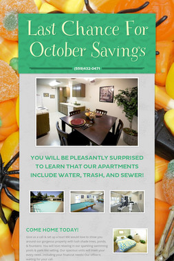 Last Chance For October Savings
