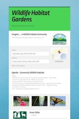 Wildlife Habitat Gardens