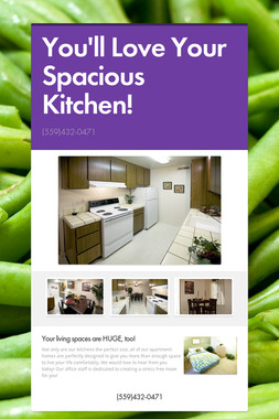 You'll Love Your Spacious Kitchen!