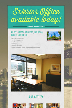 Exterior Office available today!