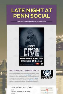 Late Night at Penn Social