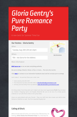 Gloria Gentry's Pure Romance Party