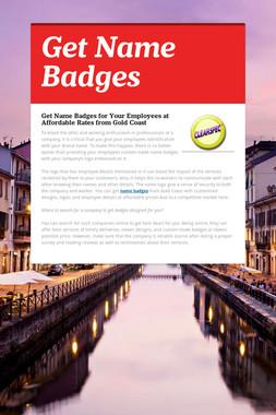 Get Name Badges
